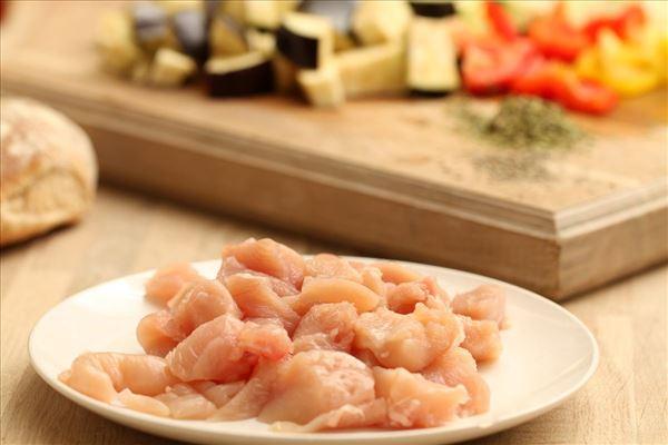 Kyllingbryst ratatouille med vilde ris