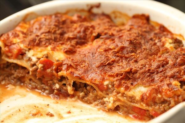 Lasagne med hytteost