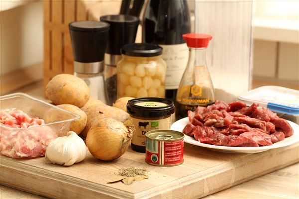 Boeuf Bourguignon med kartoffelmos