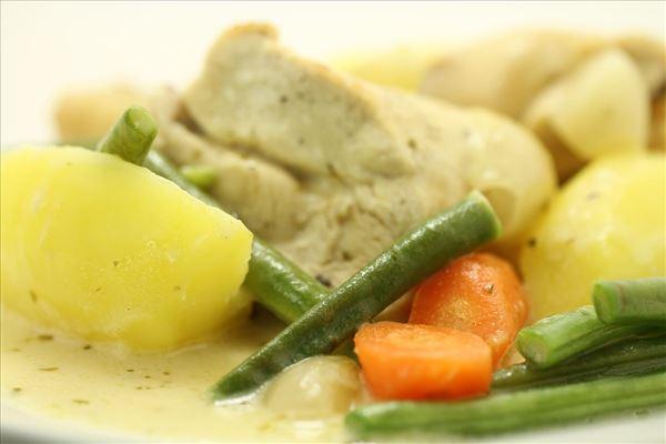 Kyllingeragout med kartofler