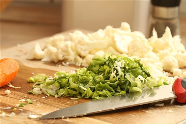 Grønsagssuppe med hjemmelavet kødboller
