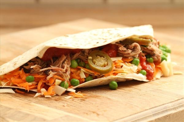 Pulled pork - mexican style (tortilla)