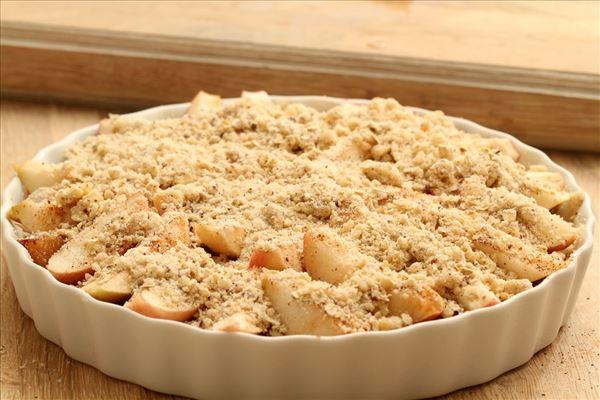 Blomme/æble tærte (smuldredej)