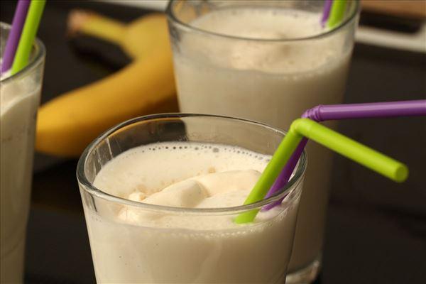 Banan milkshake med vanilleis