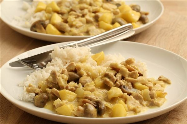 Karryragout med ris